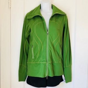 Lululemon Green Full Zip Mock Neck Unlined Jacket